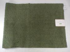 "Pottery Barn Classic Organic Loop Bath Mat Rug Medium 21x 34"" Olive Green #7641"