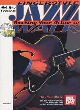 Mel Bay's  Fingerstyle Jazz Teaching Your Guitar to Walk Book + Cd Free Ship!
