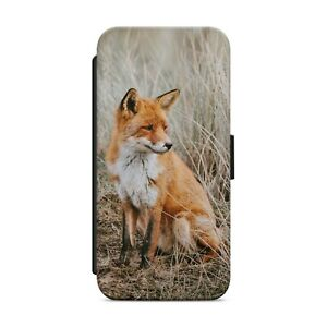 Wild Red Fox Animal WALLET FLIP PHONE CASE COVER FOR IPHONE SAMSUNG HUAWEI   z76