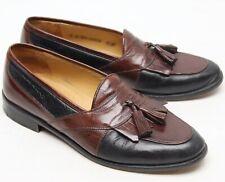 Johnston & Murphy Hommes Robe Chaussures 9 M Marron Noir Gland Kiltie Mocassins