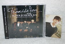 SUPER JUNIOR K.R.Y Promise You Taiwan Ltd CD only+ Ryeo-Wook card (Ryeowook)