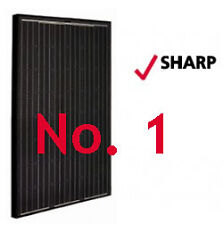 SHARP 3.42 KW BLACK Solar Panels Pack: 12 X 285W  FREE EU Delivery