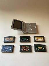 Nintendo GameBoy Advance SP Package With 6 Games (Donkey Kong, Yu-Gi-Oh!, CRASH)