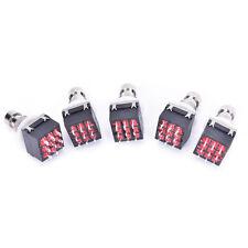 5 pcs 3PDT 9-Pin Guitar Effects Stomp Switch Pedal Box Foot Metal True BypasBLUJ