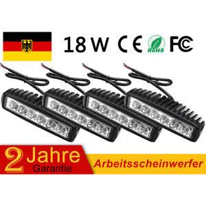LED Arbeitsscheinwerfer Beleuchtung Rückleuchten Scheinwerfer 4X 18W 12V 24V