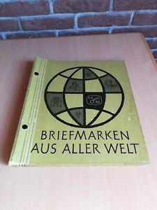"""Altes Briefmarken KABE Vordruck-Album """"Aus Aller Welt"""" zum kleben, unbenutzt"""