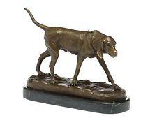 Bronzeskulptur Jagdhund Skulptur Hund Figur Bronzefigur Bronze Antik-Stil dog