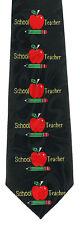 Apple For The Teacher Mens Necktie Education School Teaching Gift Neck Tie New