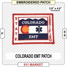 Colorado EMT Patch EMS CO State Rescue Medic Emergency Medical Technician - F 09