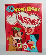 Vintage Yogi Bear Valentines 1964 Original Punch-out Book Not A Reprint Unused