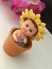 1PC Baby Shower Cake Topper Figurines Boy Blue Recuerdos De Nino Decorations