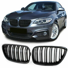 FRONT GRILLS CARBON FOR BMW F22 F23 14-16 SERIES 2 M-LOOK