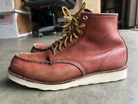 Vintage Red Wing Irish Setter Moc Toe Boots sz 10.5 Brown Made in USA