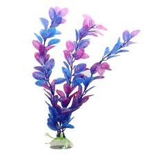 Plante Artificielle Aquatique en Plastique Violet+bleu Decoration Aquarium A1M4