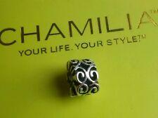 Genuine Chamilia sterling silver swirls bracelet charm bead Coil GA-82