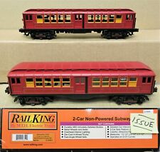 MTH RailKing 30-2448-3 Metro MTA 2-Car Lo-V Subway Set Non-Powered O-Gauge ISSUE