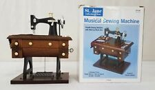 Mini Sewing Machine Music Box From Dritz 534-3728 w/ 4 Moving Parts