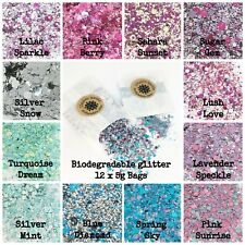 24 x 5g Bags Cosmetic Biodegradable Glitter mix Festival Party Makeup sparkles