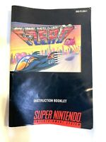 F-Zero Super Nintendo SNES Video Game Instruction Manual Booklet Book Only