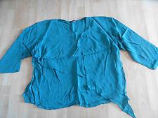 Marc Abbas beau lagen-Blouses shirt vert OneSize w. Neuf (hmi714)