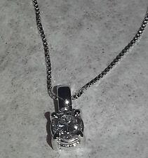 collier  girocollo punto luce oro bianco 18kt diamante 0,30 ct vs1  VERO AFFARE