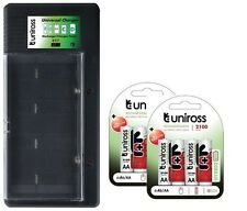 UNiROSS UNIVERSAL AA/AAA/C/D/PP3 BATTERY CHARGER+ 8 x AA 2100 HYBRIO BATTERIES
