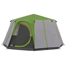 COLEMAN CORTES OCTAGON 8 PERSON FAMILY TENT GREEN glamping luxury camping large