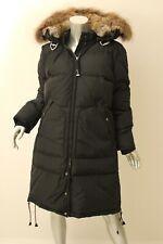 PARAJUMPERS Black Long Bear Raccon Fur Trim Down Parka XL $998