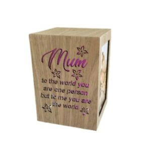 """Mum Tree Wooden 4""""x 6"""" Collage Photo Picture Frame LED Light Colour Change"""
