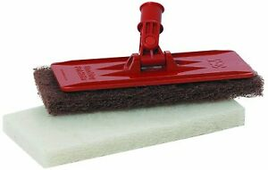 Floor Edge Cleaning Tool Emulsifying scrub pads and holder Swivel Head Doodlebug