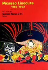 Pablo PICASSO Linocuts 1969 Museum Lithograph Poster 28-1/2 x 20