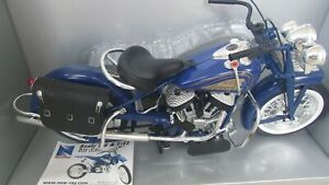 New Ray 1948 Indian Motorcycle Blue 1:6 Scale Die Cast Road Cruiser original box