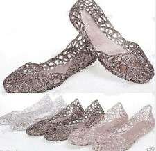 Womens Hot Sale Ventilate Crystal Shoes Jelly Hollow Sandals Flat Shoes