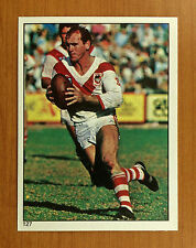 """MINT"" 1984 SCANLENS RUGBY LEAGUE STICKER #127 STEVE ROGERS ST GEORGE DRAGONS"