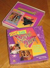 Girl Talk - Secret Diary Game - Vtg 1991 Golden - Complete & Nice