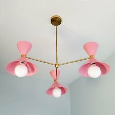 Mid Century Sputnik Chandelier Brass Modern Industrial Light Ceiling Fixture