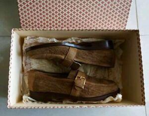 $3500 SILVANO LATTANZI Italian Handmade casual Suede leather rrl Loafers Shoes