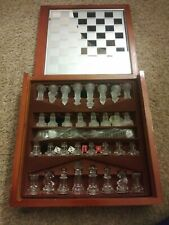 Fifth Avenue Crystal 3 in 1 Chess Checkers backgammon set