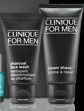 CLINIQUE FOR MEN Cream Shave 2 oz + Charcoal Face Wash 1.7 oz (Travel Lot)