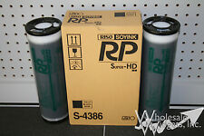 2 Genuine Riso S-4386 HD Black Ink Risograph RP3700 RP3790 RP Duplicator OEM