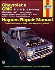 Haynes CHEVROLET S-10 (83-94) BLAZER S10 Owners Service Workshop Manual Handbook