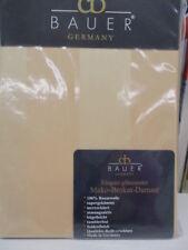Curt Bauer Mako-Brokat-Damast Kissen  80x80cm Cognac Streifen  100% Baumwolle