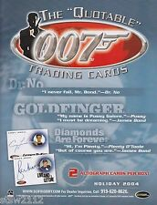 JAMES BOND QUOTABLE MASTER SET AUTOGRAPHS COSTUME RARE INSERTS CASE INCENTIVES++