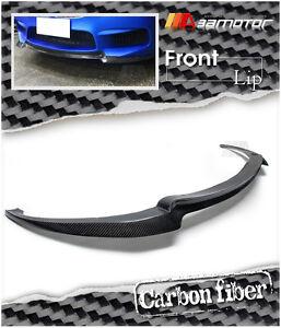 V Style Carbon Fibre Front Lip Spoiler splitter Fits BMW F06 F12 F13 M6 Bumper
