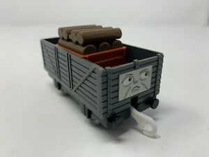 Troublesome Truck Sad Face - TOMY - 2002 - Thomas & Friends - With Wood Cargo