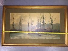 MCM Reofect Framed Art Painting AUTUMN MORNING Gold Frame 38x24 sofa size