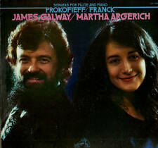 CLASSICAL LP PROKOFIEFF FTANCK GALWAY ARGERICH FLUTE PIANO SONATAS