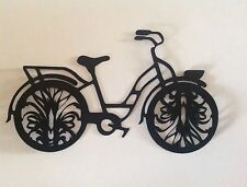 """Bicycle Cricut Die Cut Handcrafted with Card stock 3"""" Black Fancy Bicycle."""