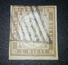 ANTICHI STATI Sardegna 10 cent n.14Cb firmato Ballabio cat.2500 euro