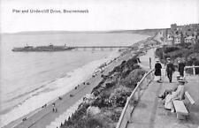 Pier & Undercliff Drive Bournemouth England Vintage Postcard ca 1910s